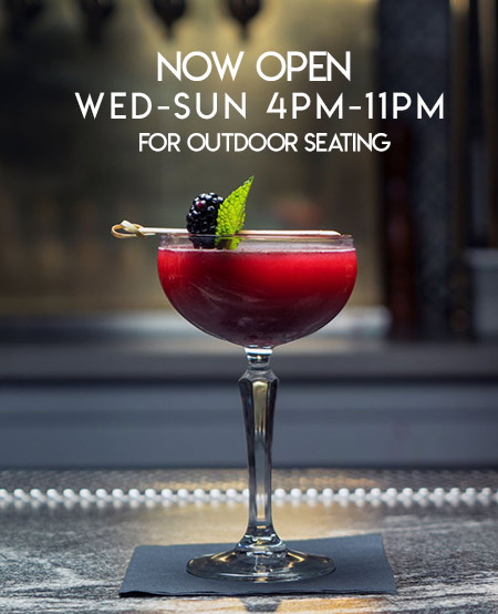 Now open Wed-Sun 4pm-11pm for outdoor seating